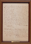 General Americana, BILL OF SALE FOR A SLAVE. July 10, 1845. 33-3/4 x 23-3/4 inches(85.9 x 60.5 cm). Slave document on paper. Elton Hyder III...