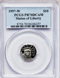 Modern Bullion Coins: , 1997-W P$10 Tenth-Ounce Platinum Eagle PR70 Deep Cameo PCGS. PCGSPopulation (107). NGC Census: (511). Mintage: 37,260. Num...