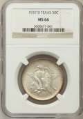 Commemorative Silver: , 1937-D 50C Texas MS66 NGC. NGC Census: (458/95). PCGS Population(485/124). Mintage: 6,605. Numismedia Wsl. Price for probl...