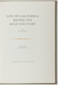 Books:Americana & American History, John Bidwell. Life in California Before the Gold Discovery.Osborne, 1966. Limited to 1950 copies. Mild toning t...
