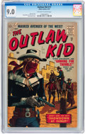 Silver Age (1956-1969):Western, Outlaw Kid #17 (Atlas, 1957) CGC VF/NM 9.0 Off-white to white pages....