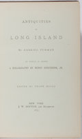 Books:Americana & American History, Gabriel Furman. Antiquities of Long Island. Bouton, 1875.First edition, first printing. Minor wear to spine ends. N...