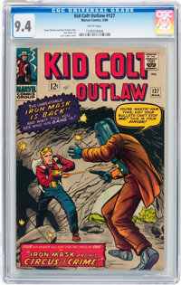 Kid Colt Outlaw #127 (Atlas/Marvel, 1966) CGC NM 9.4 White pages