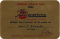 Political:Small Paper (1896-present), John F. Kennedy: American Football League Pass....