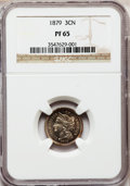 Proof Three Cent Nickels: , 1879 3CN PR65 NGC. NGC Census: (304/238). PCGS Population(291/223). Mintage: 3,200. Numismedia Wsl. Price for problemfree...