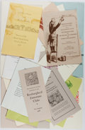 Books:Books about Books, [Books About Books]. Group of Ephemera Relating to the ZamoranoClub. 19 pieces. Very good or better condition....