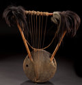 African, AN UGANDAN WOOD, HIDE AND SNAKE SKIN KISSAR . Early 20thcentury. 26 inches high (66.0 cm). ...