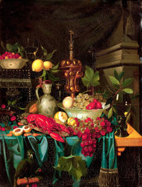 Manner of JAN DAVIDSZ DE HEEM (Dutch, 1606-1684) Still Life Oil on canvas 31-1/4 x 23-3/4 inches