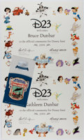 Books:Art & Architecture, [Walt Disney]. D23 Club Certificate and Exclusive Patch. 2009. Fine....