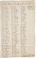 Miscellaneous:Ephemera, [British Prisoners of War] and [Convention Army]. Long Roll of 20thRegiment of Convention....
