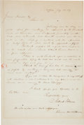 Autographs:U.S. Presidents, Millard Fillmore Autograph Letter Signed and Free Frank...