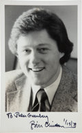 Autographs:U.S. Presidents, Bill Clinton Photograph Signed....