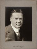 Autographs:U.S. Presidents, Herbert Hoover Photograph Signed....
