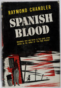 Books:Mystery & Detective Fiction, Raymond Chandler. Spanish Blood. Tower, 1946. First edition,first printing. Toning and rubbing. Foxing to rear ...