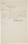 Autographs:U.S. Presidents, Rutherford B. Hayes Autograph Letter Signed....