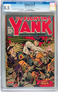 Fighting Yank #8 (Nedor Publications, 1944) CGC VF+ 8.5 Off-white to white pages