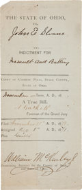 Autographs:U.S. Presidents, William McKinley Partial Document Signed....