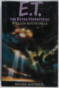 Books:Science Fiction & Fantasy, William Kotzwinkle. CAST SIGNED. E. T. The Extra-Terrestrial. Putnam, 1982. First edition, first printing. Sig...