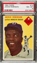 Baseball Cards:Singles (1950-1959), 1954 Topps Jackie Robinson #10 PSA NM-MT 8....