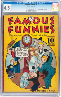 Famous Funnies #6 (Eastern Color, 1935) CGC VG+ 4.5 Cream to off-white pages