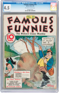 Platinum Age (1897-1937):Miscellaneous, Famous Funnies #10 (Eastern Color, 1935) CGC VG+ 4.5 Off-white towhite pages....