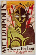 Books:Science Fiction & Fantasy, Thea von Harbou. Metropolis. Readers Library, [n. d.].Copyright edition. Binding cracked. Toning and minor abrading...