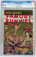 Golden Age (1938-1955):Science Fiction, Famous Funnies #215 (Eastern Color, 1955) CGC VG+ 4.5 Off-white towhite pages....