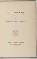 Books:Literature 1900-up, Edna St. Vincent Millay. Fatal Interview. Harper, 1931. First edition, first printing. Bookplate. Spine label wi...