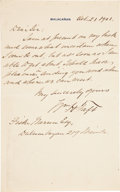 Autographs:U.S. Presidents, William H. Taft Autograph Letter Signed...