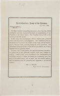 Miscellaneous:Ephemera, [Lincoln Assassination]. George Meade's General Orders No. 15....