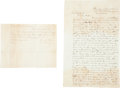 Miscellaneous:Ephemera, [Civil War]. Lot of Two Autograph Letters Signed... (Total: 2Items)