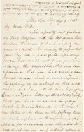 Autographs:Military Figures, [Civil War]. T. H. Irvin Autograph Letter Signed....