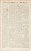 Miscellaneous:Ephemera, [Slave Execution]. The Pennsylvania Packet and DailyAdvertiser....