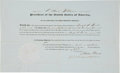 Autographs:U.S. Presidents, Millard Fillmore Appointment Signed....