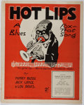 Books:Music & Sheet Music, [Sheet Music]. Henry Busse, et al. Hot Lips. Francis, Day& Hunter, 1921. Minor toning and wear. Very good....
