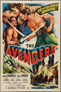 "Movie Posters:Adventure, The Avengers (Republic, 1950). One Sheet (27"" X 41""). Adventure....."