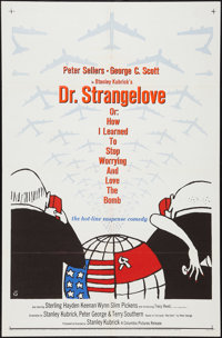 "Dr. Strangelove or: How I Learned to Stop Worrying and Love the Bomb (Columbia, 1964). One Sheet (27"" X 41"")..."