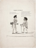Political:Small Paper (pre-1896), Black Americana: Early Negro Suffrage Cartoon....