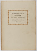 Books:Literature Pre-1900, William Shakespeare. Hamlet: The Second Quarto, 1604. [n.p.], 1964. Facsimile edition. Toning and light wear with s...