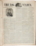 Political:Small Paper (pre-1896), William Henry Harrison: Complete Bound Volume of 1840 Log CabinNewspapers....