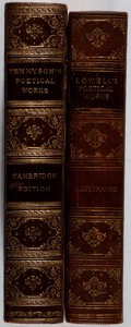Books:Literature Pre-1900, Group of Two Nineteenth-Century Collections of Poetry Bound in HalfLeather. 1890-1898. Gift inscription in one volume. Mino... (Total:2 Items)