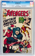 Silver Age (1956-1969):Superhero, The Avengers #4 (Marvel, 1964) CGC NM 9.4 White pages....