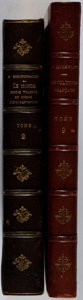 Books:Fine Bindings & Library Sets, Group of Two Early Twentieth-Century Books Bound in Decorative Half Leather. Various, 1913. Minor toning and rubbing. Spines... (Total: 2 Items)