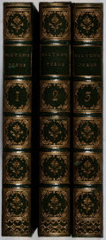 Books:Literature Pre-1900, John Milton. Poetical Works. Vol. I-III. Pickering, 1852.Later edition. Henderson and Bisset bindings. Owner na... (Total: 3Items)