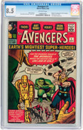 Silver Age (1956-1969):Superhero, The Avengers #1 (Marvel, 1963) CGC VF+ 8.5 Off-white pages....