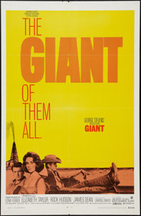 "Giant (Warner Brothers, R-1970). One Sheet (27"" X 41""). Drama"