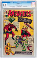 Silver Age (1956-1969):Superhero, The Avengers #2 (Marvel, 1963) CGC NM- 9.2 Off-white to whitepages....