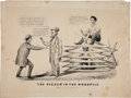 Political:Small Paper (pre-1896), Abraham Lincoln: Currier & Ives Cartoon....