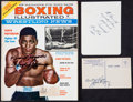 Boxing Collectibles:Autographs, Jack Dempsey, Max Baer, And Floyd Patterson Signed Memorabilia LotOf 3....