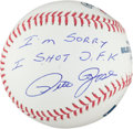 "Autographs:Baseballs, Pete Rose ""I'm Sorry I Shot J.F.K."" Single Signed Baseball. ..."